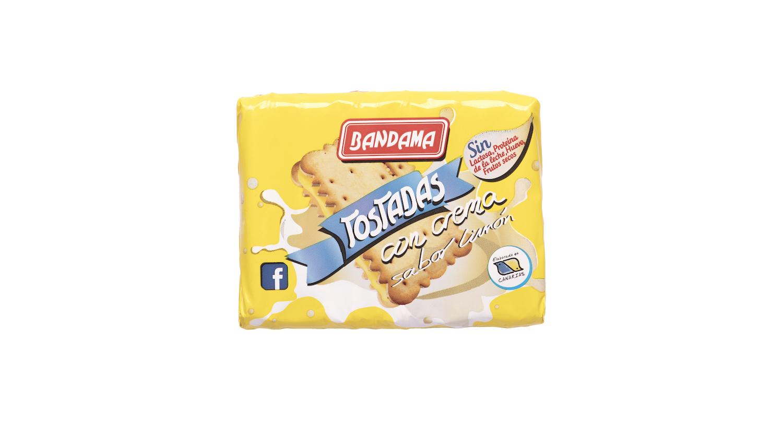 tostadas con crema limon Galletas Bandama