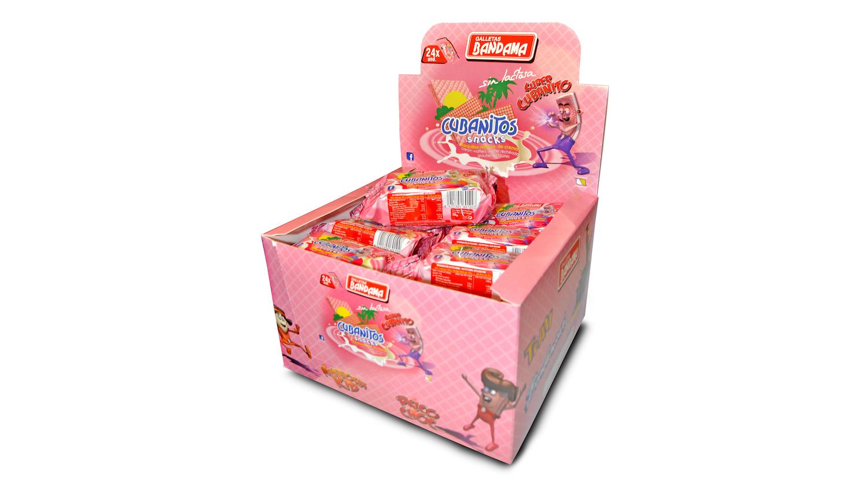 cubanito rosa snack Galletas Bandama