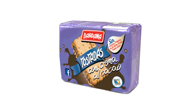 tostadas con crema al cacao Galletas Bandama