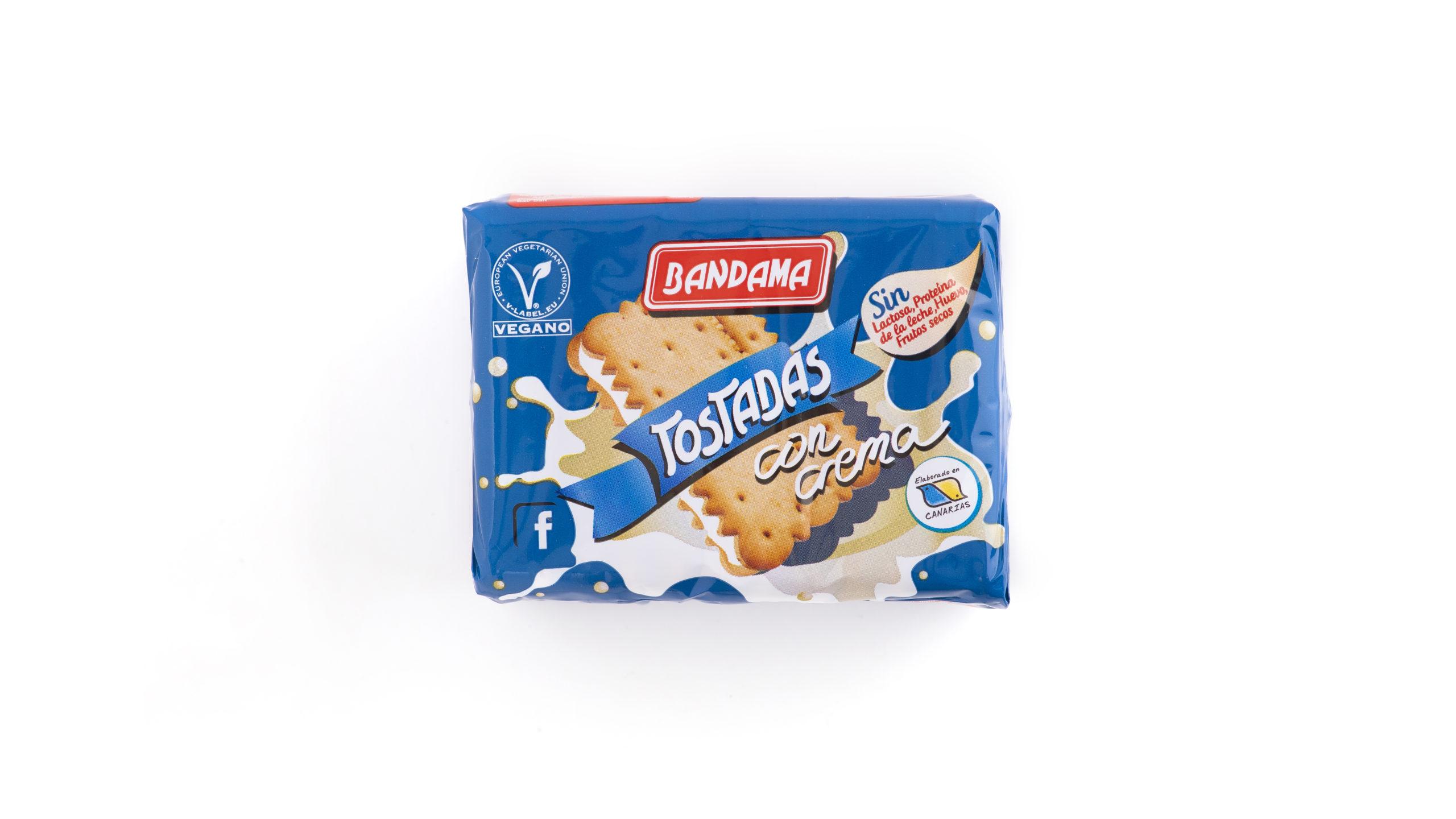 Tostadas con Crema Galletas Bandama
