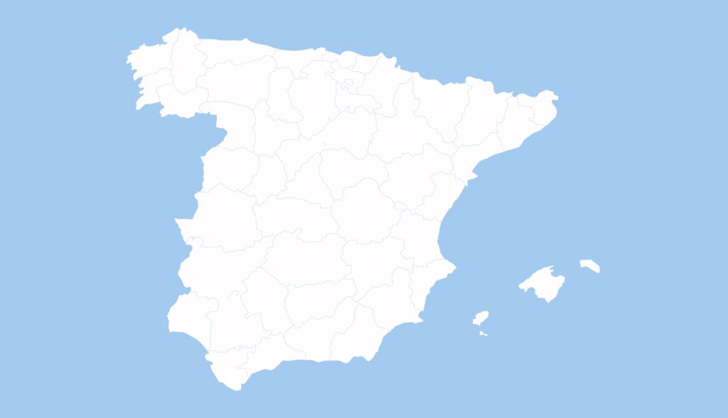 mapa península Ibérica distribuidores Galletas Bandama