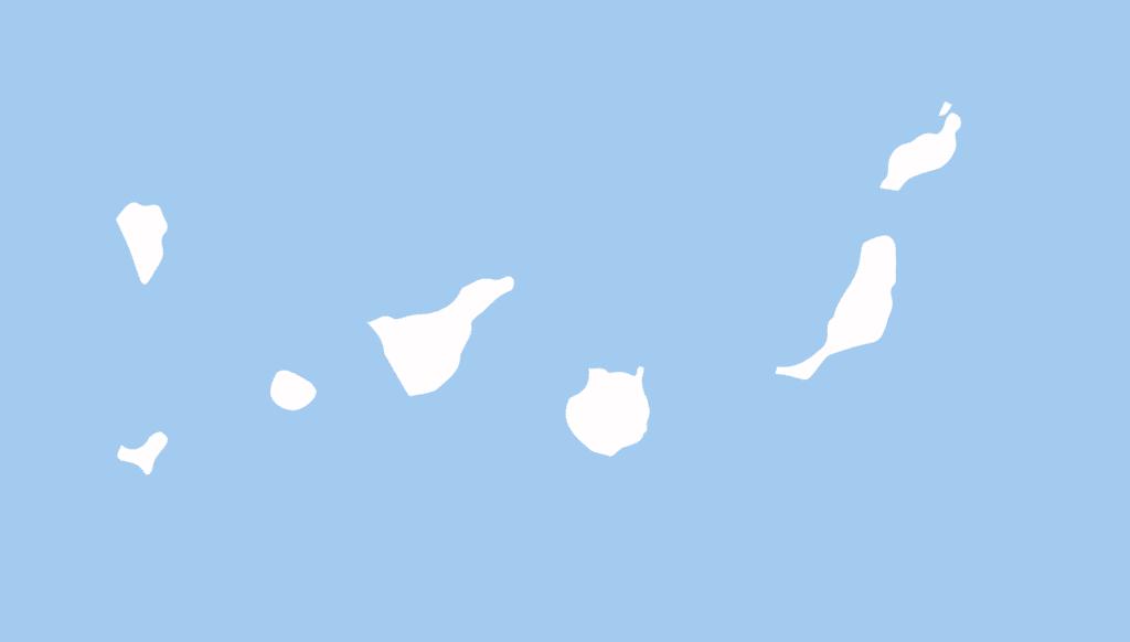 mapa Islas Canarias distribuidores Galletas Bandama